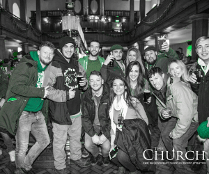 St Patricks Day in Dublin at The Church