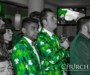 Shamrock Suits St Patricks Day in Dublin at The Church