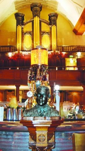 Bust of Arthur Guinness at The Church Bar, Dublin