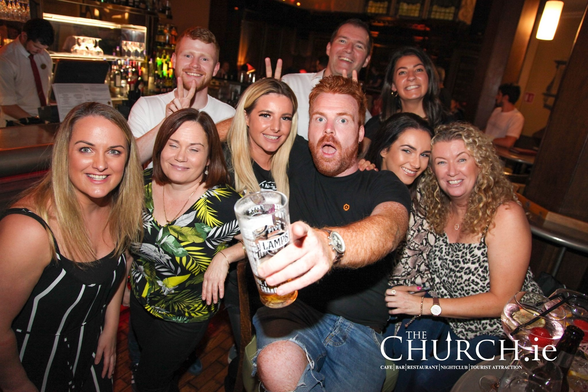Group of friends at the Main Bar.