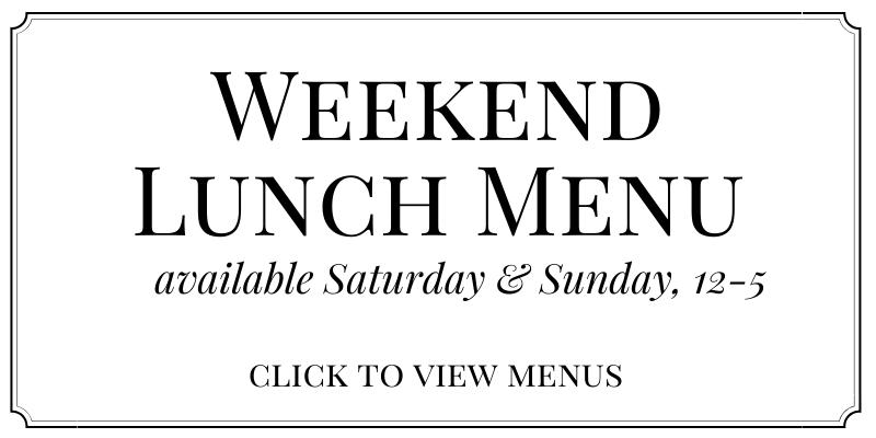 Weekend Lunch Menu The Church